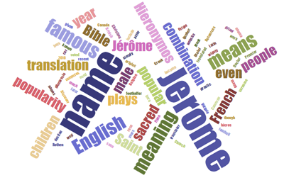 Name Jerome Word Cloud