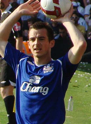 Leighton Baines - a famous English footballer with the name