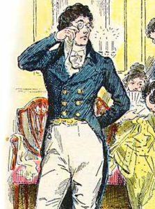 Mr Darcy from the Novel Pride and Prejudice.