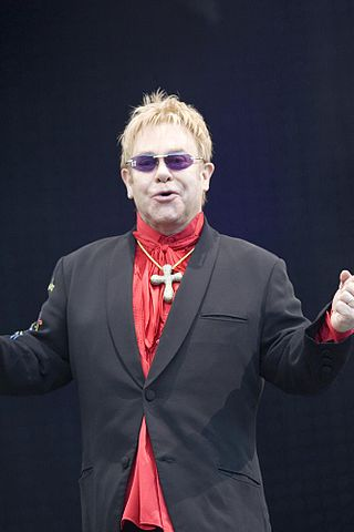 The world famous singer Elton John