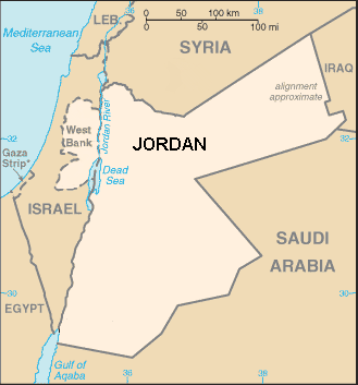The country and river Jordan