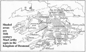 The Kingdom of Desmond now known as Munster