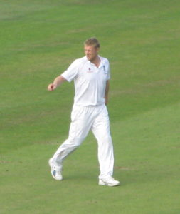 The English Cricketer Andrew Flintoff