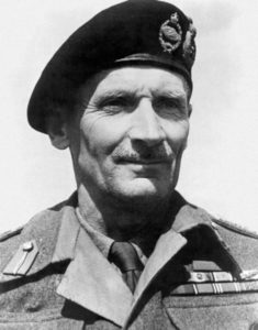 Field Marshal Montgomery. The Famous British Military Figure.